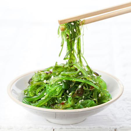 iodine: Bowl of Seaweed Salad sprinkled with Sesame Seeds