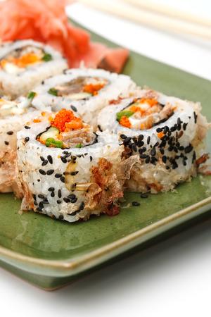 makki: Sushi Set: sushi rolls with rice, fish and seaweed