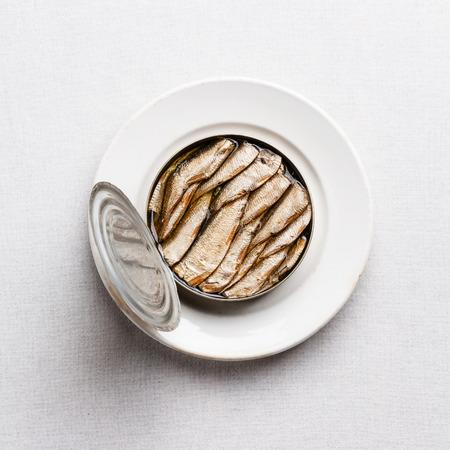 Spratti in latta su sfondo bianco con texture Archivio Fotografico - 35309908
