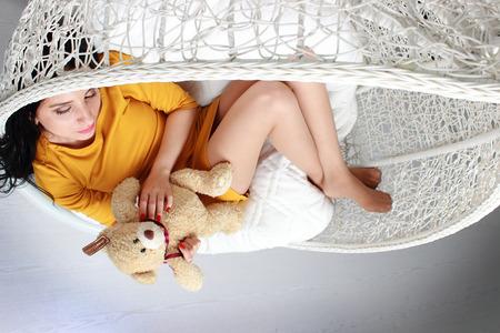sweet dreams: pretty girl in sweet dreams Stock Photo