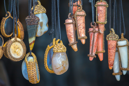 Pendants made of gemstones
