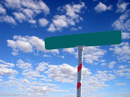 a blank street sign for your mesage Stock Photo - 352403