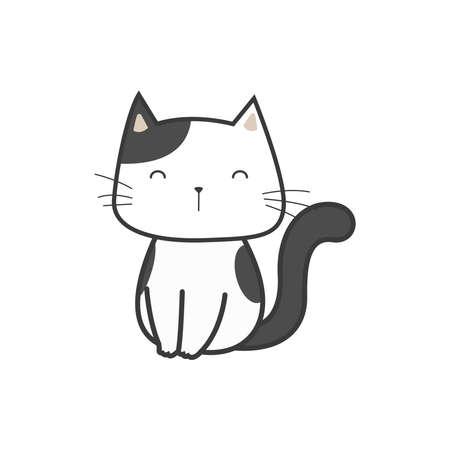 Doodle illustration cat vector graphics