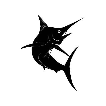 Marlin fish icon vector graphics Ilustración de vector