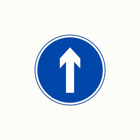 Compulsory ahead traffic sign vector graphics