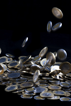 coins on isolated background photo