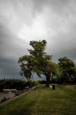 balaton: view of the lake Balaton on a windy day Stock Photo