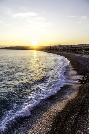 View of the Mediterranean sea, Nice, France