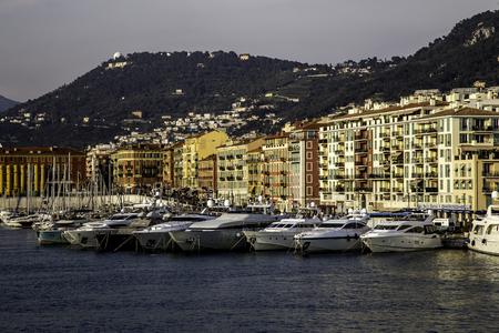 Yachts in the Old Port at Nice, France Editöryel