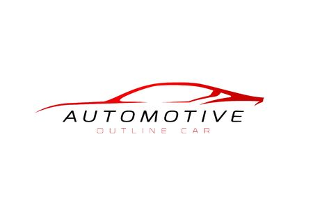 Automotive car outline sign for your projects
