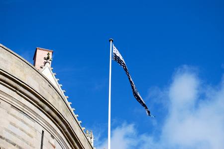 bretagne: Flag of Bretagne in Nantes on the castle