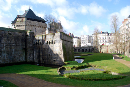 histories: View to the castle from the defensive wall in Nates Editorial