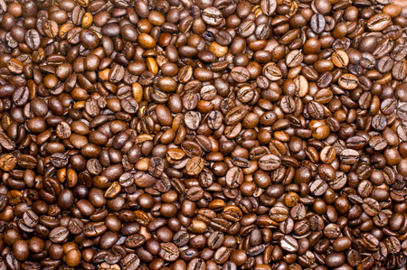 medium close up: Macro photo shot of roasted brown background Stock Photo