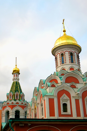 kazan: Kazan Cathedral in Moscow in Russian Federation Stock Photo