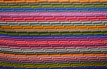 stripy: Stripy colorful knitted background in different colours Stock Photo