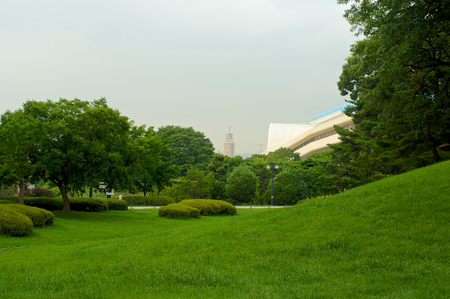 Olympic park in Seoul in summer in South Korea Editorial