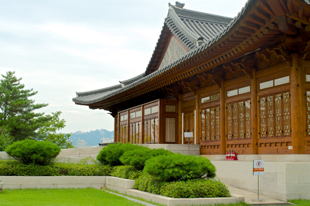 Traditional Korean house on the territory of Government assembly