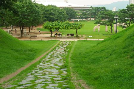 park in Seoul in summer in South Korea Stock Photo