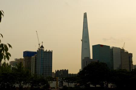 park in Seoul in summer, South Korea