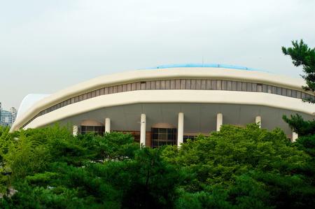 Olympic park in Seoul in summer in South Korea 新聞圖片
