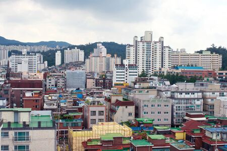 View in Sillim from rooftop in Seoul, South Korea