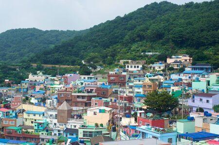 Busan Gamcheon Culture Village in summer in South Korea