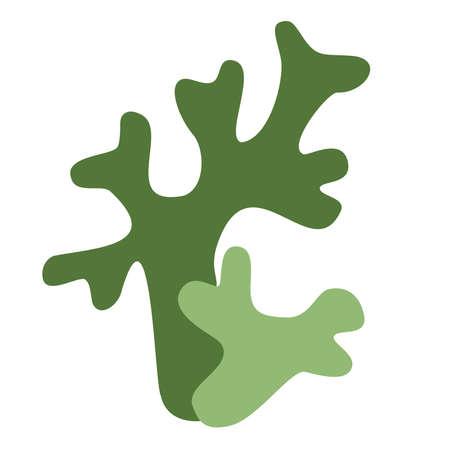 Icelandic green moss icon on white background