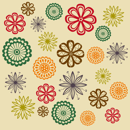 flowers background: Flores decorativas patr�n de fondo
