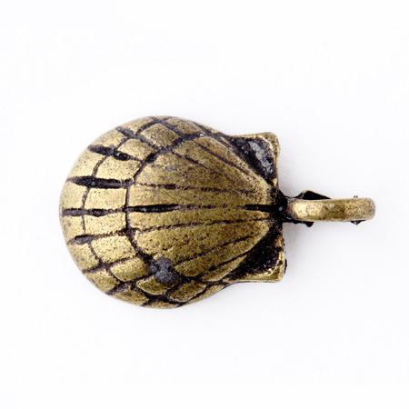 pendants: Bronze shell pendants isolated on white background