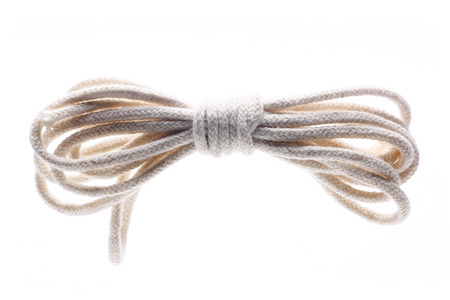 entanglement: rope Isolated on white background Stock Photo