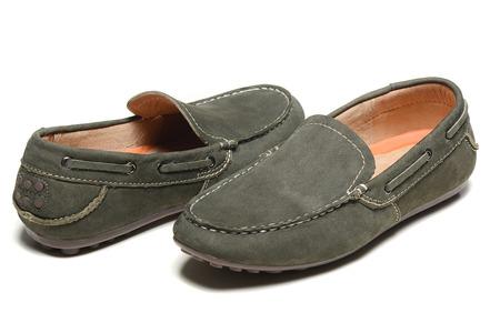 Men\s loafer shoe on white background photo