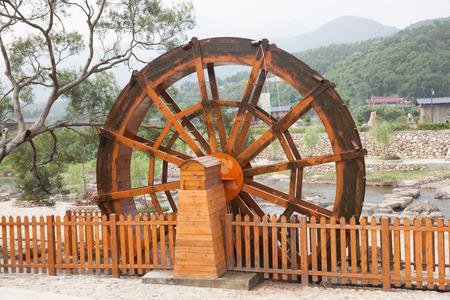 waterwheel: Located in Chinas Fujian Province wood waterwheel.