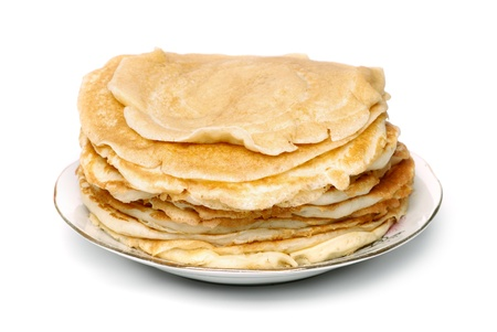 browned: the stack of browned pancakes Stock Photo