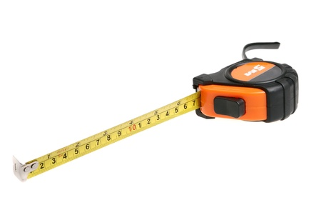measuring tape  isolated on white  photo