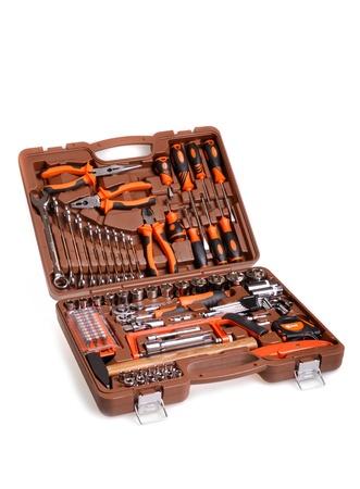large toolbox  isolated on white Stock Photo - 13186299