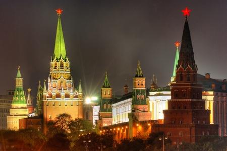 kremlin: Moscow Kremlin at Victory Day  9th May  Stock Photo