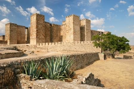 alcazaba: Castle  Alcazaba  in Trujillo  Spain  Editorial