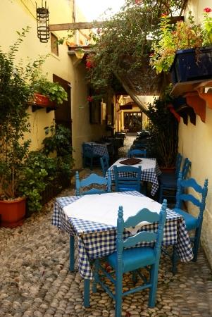 Café im alten griechischen Stadt