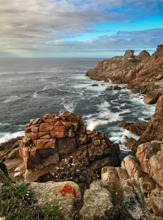 galicia: Rocky ocean Coast near Cabo Vilan  Galicia