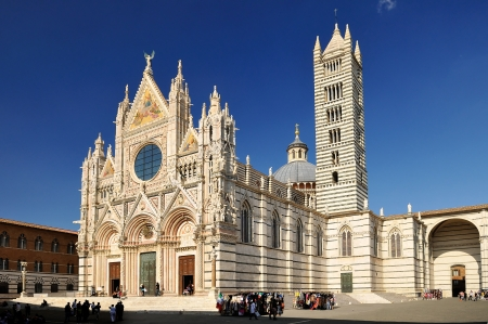 siena italy: Siena Cathedral  duomo - toscana - italy  Stock Photo