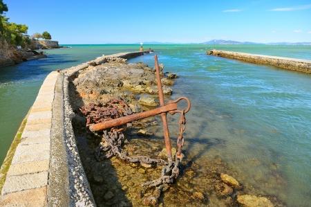 tyrrhenian: mouth  estuary  of river into Tyrrhenian sea