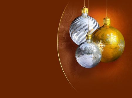 Elegant shiny christmas decoration. photo