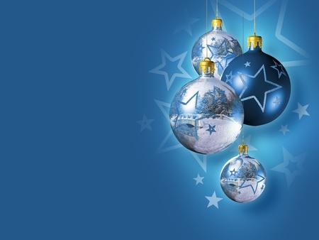 Elegant shiny christmas decoration. photo
