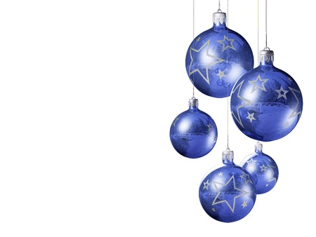 Elegant decorative isolated christmas baubles on white background. Stock Photo - 9861418