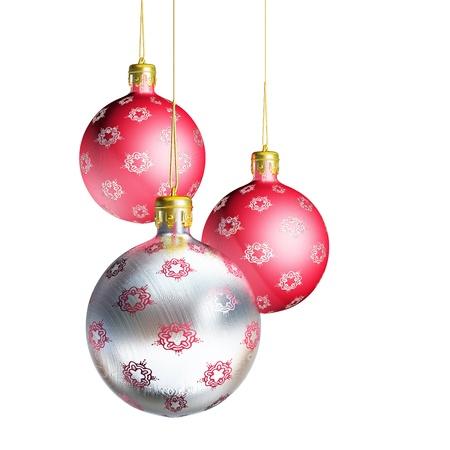 우아한 장식 크리스마스 싸구려 흰색 배경에 고립. 스톡 콘텐츠