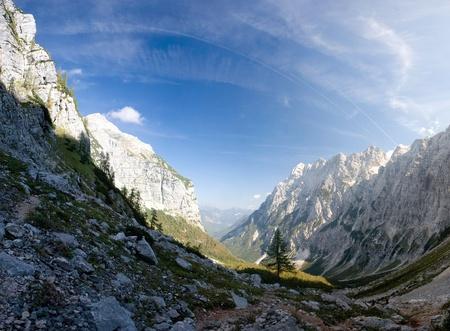 Beautiful striking landscape scene around Triglav, the highest peak in the Julian Alps. Stock Photo - 10739352