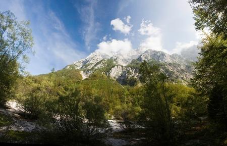 julian: Beautiful striking landscape scene around Triglav, the highest peak in the Julian Alps.