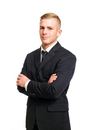 Half length portrait of a very confident young businessman.