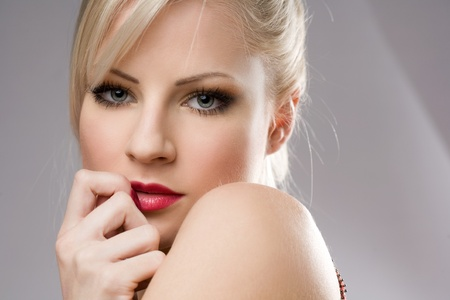 Sensual portrait of a gorgeous young blond woman. photo