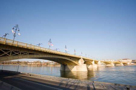 Scenic view of the recently renewed Margit bridge in Budapest. Stock Photo - 13119148